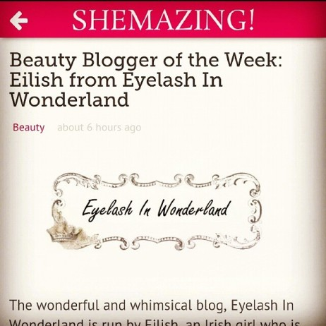 Shemazing.net Beauty Blogger of the Week Eyelash in Wonderland