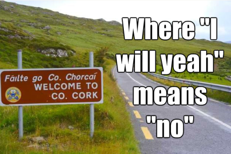 Cork sign and slang